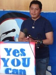 Luis at Yes You Can press conference