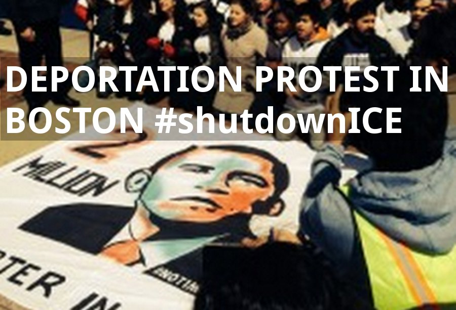 Activists #shutdownICE at Boston Detention Center