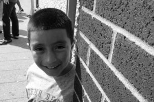 Selvin, 9 years old, recently fled Guatemala and arrived in New Haven, Connecticut