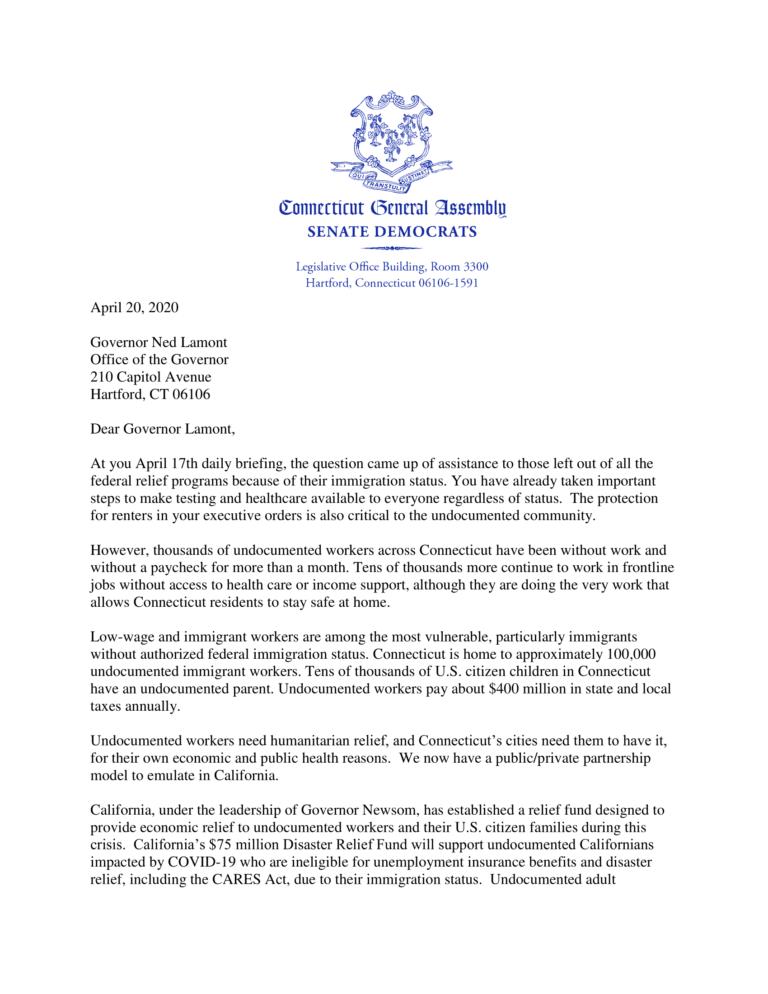 Letter from senators 1